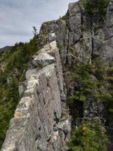 烏帽子岩左稜線11P目